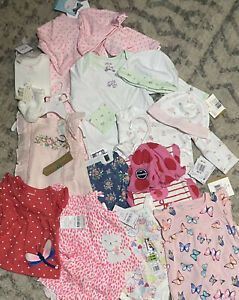 Baby Girl Clothing Lot 0-3 Months/3 Months- New With Tags- 11 Items $125 Value
