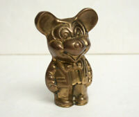 Vintage Walt Disney's Mickey Mouse Solid Brass Figure