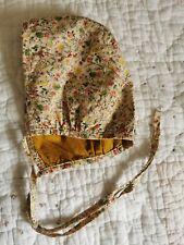 Girls reversible Handmade Bonnet 12-18 months.