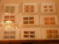 Francobolli stamps QUARTINA FRANCOBOLLI -ITALIA-VATICANO-AVANTI E DIETRO (1)