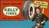 Vintage Kelly Springfield Tires Best Buy in Town Advertisement Ink Blotter Mint