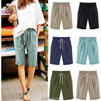 Shorts Knee Combat Chino Cargo Ladies Length Summer Holiday Pants Plus Size 6-22
