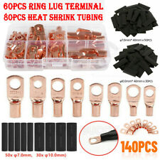 60140pcs Copper Wire Ring Terminal Lug Sc Battery Welding Bare Connectors Kits