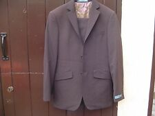 Ted Baker Elevation Brown Suit 36 Chest 28 Waist  x display some fading