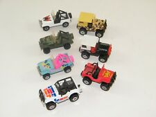 (7) VINTAGE HOT WHEELS / MATCHBOX ~ 4X4 JEEPS ~  LAREDO, EAGLE, CAMO