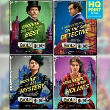 Enola Holmes 2020 Harry Bradbeer Movie Characer Posters | A5 A4 A3 |