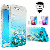 Samsung Galaxy J7 Prime/J7V/J7 Sky Pro/Halo Rhinestone Case Liquid Glitter Cover