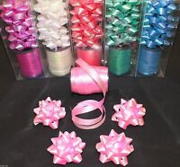 Two tone effect 8.5m curling ribbon roll with 4 bows *6 colours* - gift wrap