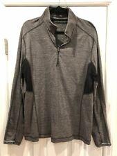 lululemon men's Surge Warm 1/2 Zip - Heathered Black - size Xl