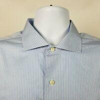 Brooks Brothers Regent Non Iron Mens Blue Purple Striped Dress Shirt Size 17-34