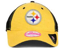 Pittsburgh Steelers New Era NFL Womens Yellow Black 9Forty Snapback hat cap OSFM
