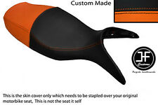 BLACK & ORANGE VINYL CUSTOM FITS BMW R 1100 S 98-05 DUAL SEAT COVER ONLY