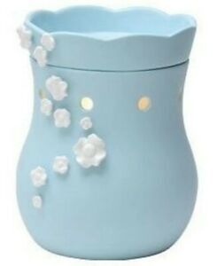 Scentsy Baby's Breath Warmer Full Size Retired Blue with White Flowers