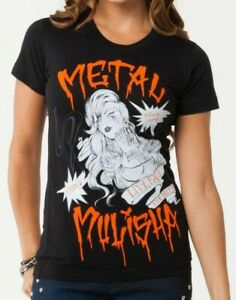 Metal Mulisha Dani G Boom T-shirt S/S Top /  ladies M147S18107 SALE