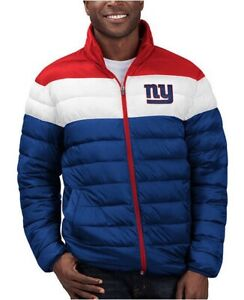 NEW Poly Fill Quilted Jacket Cold Front New York Giants FAN WEAR Size XL