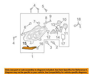 Buick GM OEM 08-12 Enclave Headlight Head Light Lamp-Lower Support Left 10365374