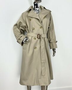 Burberry's Burberry Trench Coat Vintage Belted Double Breasted Women's 10 / M