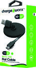 Chargeworx CX4511BK Flat Sync & Charge MSUB Cable10FT Black [New ]