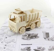 Truck 3D Wooden Puzzle, Woodcraft Construction Kit, DIY Remote Control Truck