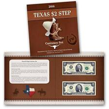 2016 Texas $2 Step Currency Set BEP MATCHING SERIAL NUMBER 2 NOTE SET