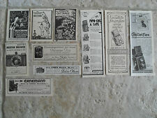 PUBBLICITA'-ADVERTISING- LOTTO MACCHINE FOTOGRAFICHE E PELLICOLE  - ANNI 30
