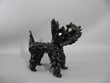 Vintage seltener großer MURANO Pulegoso Scotch Terrier - black scottie Dog