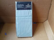Christy Plain Dyed (Duck Egg Green) Pillowcase Pair 50x75cm