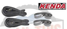 "2-Pack Kenda 27x1-1/4"" Road Bicycle Inner Tubes + 2-Pack Kenda 27"" Rim Strips"