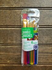6 Creativity Street Triangle Handle Brush Set / Craft Projects / Painting New