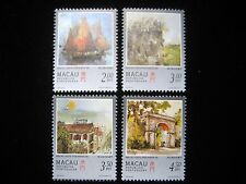 Macau - Complete set of 4 stamps - Painting of Macau by Kwok Se