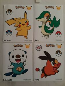 Mcdonald's 25th anniversary pokemon stickers ONLY pack #5 happy meal toy
