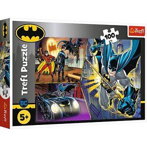 Trefl 100 Piece Kids Large Fearless Batman Warner Bros Justice Jigsaw Puzzle