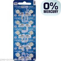 10 x Renata  394  Batterie V394 SR45SW SR936SW  KNOPFZELLE Uhrenbatterie 1,55V