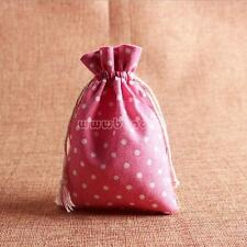 20PCs Cotton Fabric Jewelry Drawstring Gift Bags Pouch Wedding Party Favors