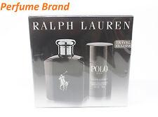 Polo Black GIFT SET 4.2oz Spray + 2.6oz Deodorant Stick For Men