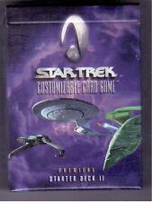 Star Trek CCG Starter Deck II; 60 Beta White border and 8 Limited Cards Per Deck