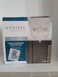 Quoizel Chateau 9.8-in W Polished chrome Flush Mount 3-Light 0760168