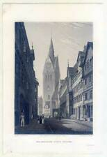 Hannover - Koeblinger Straße - Stahlstich Robert Batty 1827