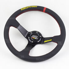 350mm 14 inch Mugen Leather Sport Steering Wheel Universal Racing Steering Wheel