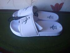 Penquin logo white men's sliders Size 9 (43) RRP £25