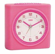 Reloj Despertador Analógico Rosa/Blanco