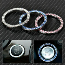 1PCS Car Engine Start Stop Ring Push Button Knob Key Switch Ring Crystal Decor