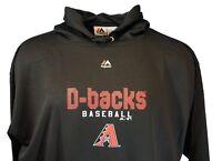 MLB Arizona Diamondbacks Majestic Pullover Hoodie, Black, Mens, Big & Tall, Nwt
