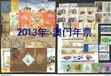 2013 MACAO/MACAU YEAR PACK(SEE PICS)INCLUDE STAMP M/S