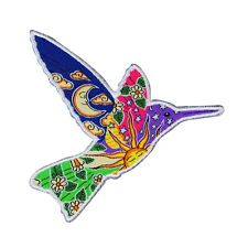 Dan Morris Hummingbird Patch Free Spirit Bird DIY Nature Craft Iron-On Applique