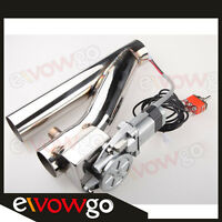"""2.5"""" Exhaust Downpipe Testpipe Catback E Electric Cutout kit Switch Control"""