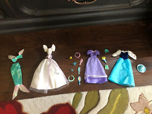 Vintage The Little Mermaid Dress And Play Barbie Outfits