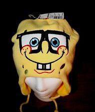 NEW! Sponge Bob Squarepants Knit Hat Cap Tassels Nepal Style Adult ONE-SIZE