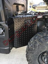 2016-2017 POLARIS RANGER 900 BLACK  DIAMOND PLATE MUD GUARDS