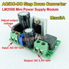 AC/DC-DC Step-Down Adjustable Converter AC 5V-22V To DC 3.3V~30V Power Regulator